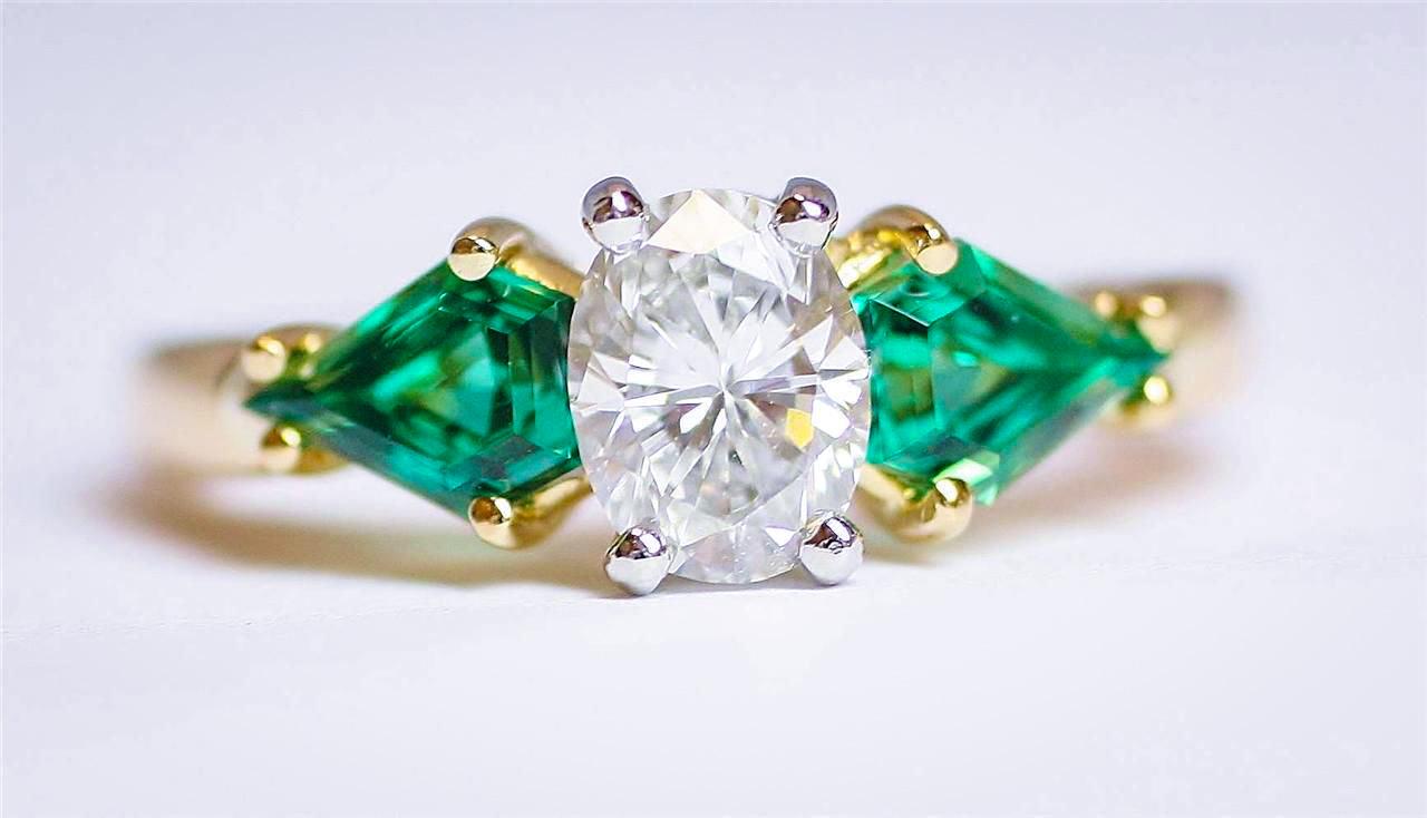 Oscar_Heyman_Diamond_Emerald_Rings