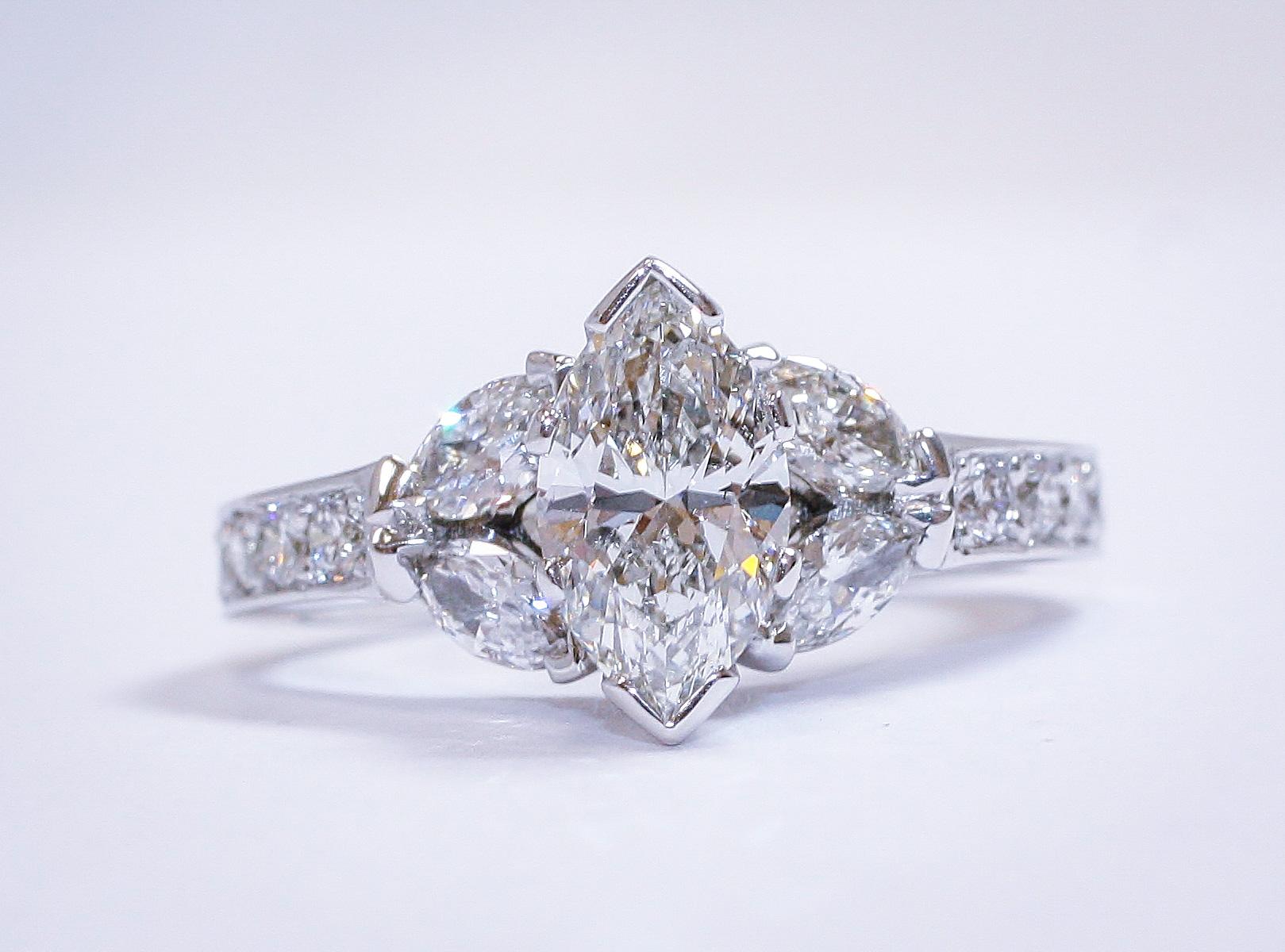 Vintage Marquis Diamond Ring